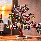 HUANSUN CrystalTree Ornament 36pcs 18pc Hangs s Glass Fengshui Crafts Home Decor Figurines Christmas New Year Gift Souvenir, ámbar, 36 cuelgas