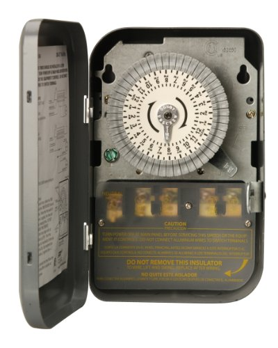 Woods 59104WD Indoor 24-Hour Heavy Duty Mechanical Time Switch, 208/277V 40A DPST