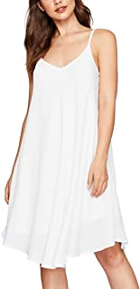 Women's Summer Spaghetti Strap Sundress Sleeveless Beach Slip Dress
