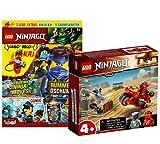 Lego Set Ninjago Kais Feuer-Bike 71734 + Lego Ninjago Nr. 77 (cómics, rompecabezas, póster, minifigura de Kai