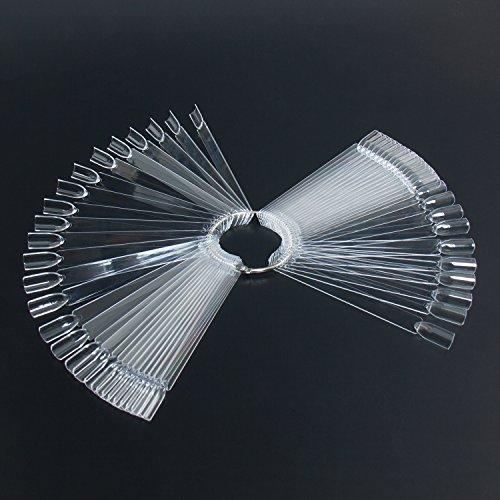100 Stück Nagel Präsentation Falsche Nagel Nagelspitzen Fächer Display Nagelspitzen transparent Nail Art Tips