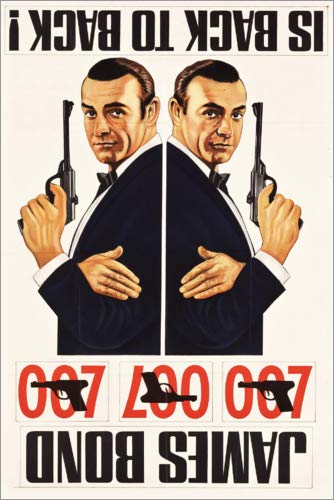 Poster 20 x 30 cm: James Bond is Back to Back di Entertainment Collection - Stampa Artistica Professionale, Nuovo Poster Artistico