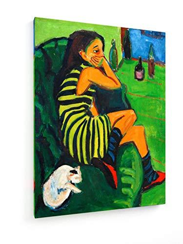weewado Ernst Ludwig Kirchner - Marcella - 1910-60x80 cm - Impresion en Lienzo - Muro de Arte - Canvas, Cuadro, Poster - Old Masters/Museum
