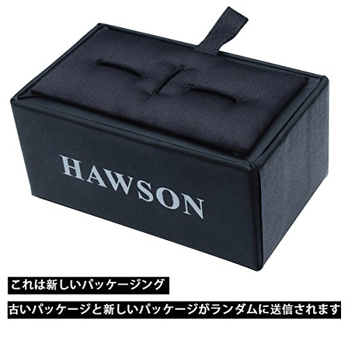 HAWSON かっこいいカフスネクタイピンセット野球のバットと手袋 HAWSONおしゃれセット。 銀色1