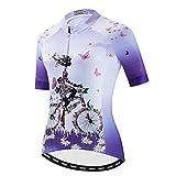PSPORT Ciclismo ropa de las mujeres de verano Bicicletas de verano, camisetas de ciclismo de montaña, manga corta y ropa de ciclismo reflectante 3 bolsillos S-2XL