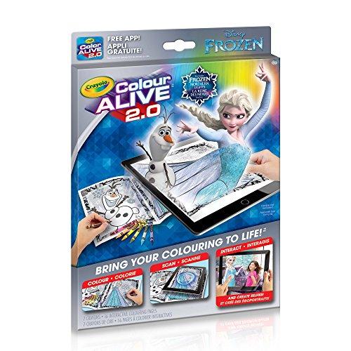 Disney Frozen Crayola Color ALIVE 2.0 Coloring Book, Crayons and Mobile App Set