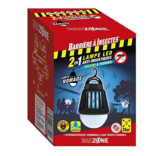 Barzone - Lámpara LED antimosquitos antimosquitos 2 en 1 – Funda 1 bombilla