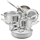 Breville 32064 Thermal Pro Stainless Steel Cookware Pots and Pans Set, 10 Piece,...