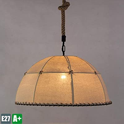 Lámparas de araña Luz de techo Rústico Antiguo Tela de ...