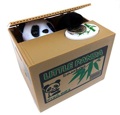 Brigamo 91608 - Elektrische Panda Spardose - DAS Gadget Geburtstagsgeschenk