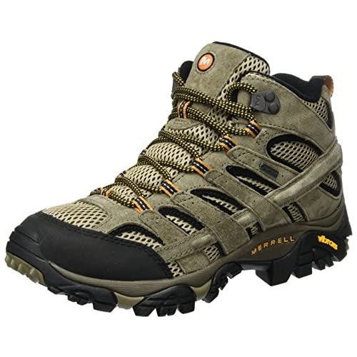 51cmNI164AL. SS500  - Merrell Men's Moab 2 Leather Mid GTX High Rise Hiking Shoes