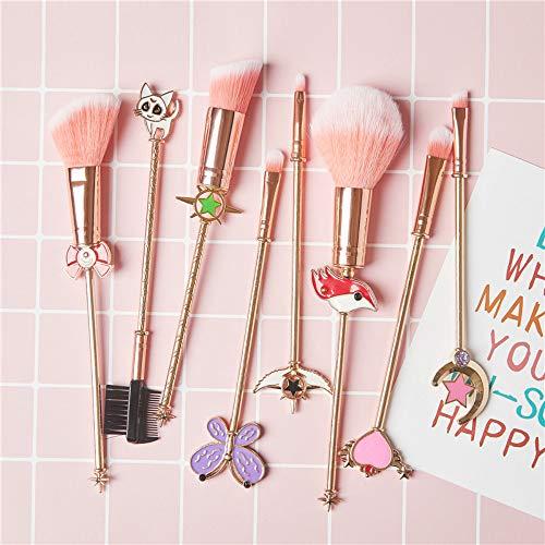 8 Sailor Moon Maquillage Pinceau Variété Sakura Ombre À Paupières Pinceau Beauté Maquillage Cadeau D'anniversaire