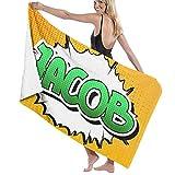 DJNGN Toalla de arena Toalla de baño Bandera del polígono triangular de Jamaica Símbolo nacional geométrico, Secado rápido, alta absorción, Ligero y fino Toalla de baño suave, Baño de natación, Campin