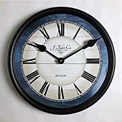 Carolina Blue Wall Clock, Available in 8 Sizes, Most Sizes Ship The Next Business Day, Whisper Quiet.