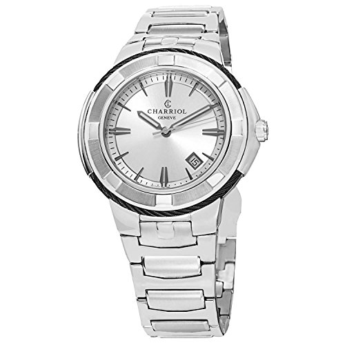 Charriol Celtic XL Men's Silver Dial Stainless Steel Swiss Made Watch CE443B.930.103