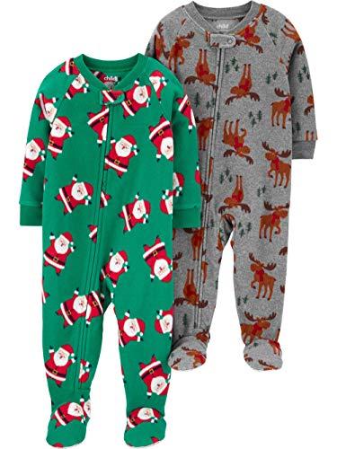 Fleece pyjama 2-pack maat 98-104 -110 eendelig met voeten pyjama winter nachtkleding warm zacht voor jongens huispak slaapoverall