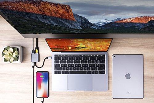 HYPER HD259A USB 3.0 (3.1 Gen 1) Type-C Gris - Concentrador (USB 3.0 (3.1 Gen 1) Type-C, HDMI,USB 3.0 (3.1 Gen 1) Type-A,USB 3.0 (3.1 Gen 1) Type-C, Gris, Aluminio, USB, 1 pieza(s))