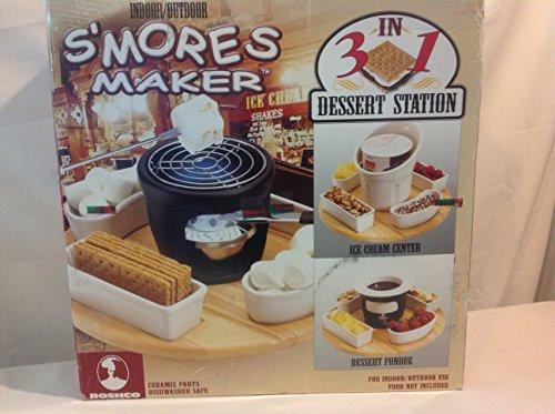 SMORES MAKER - Indoor/Outdoor 3-in-1 Dessert Station (S'mores, Fondue, Ice Cream)