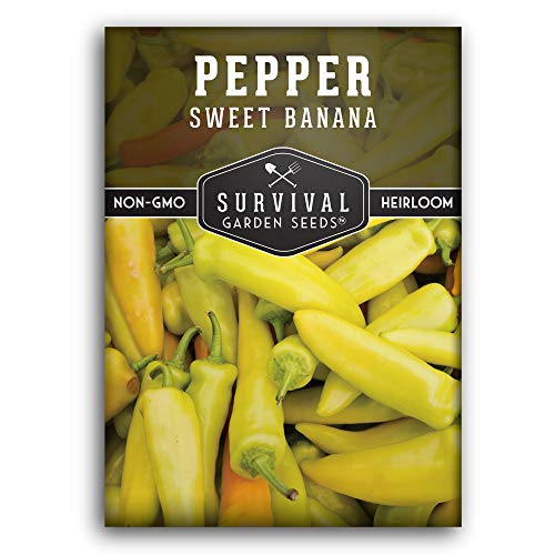 Survival Garden Seeds - Sweet Banana Pepper Seed for Planting - Packet with...
