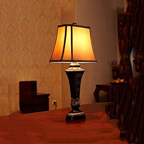 Bonne chose lampe de table Lampe de table européenne rétro lampe de table de luxe lampe de chevet de chambre imitation classique lumières de salle de séjour nostalgique