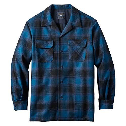 Pendleton, Men's Long Sleeve Tall Board Shirt, Marine Blue/Black Ombre, X-Large