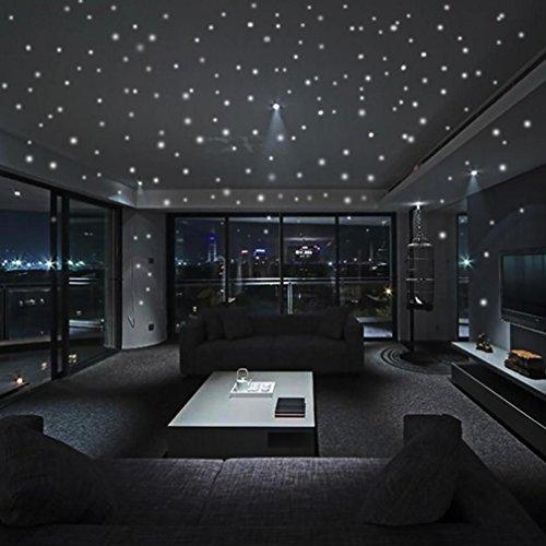Aobuang Pegatinas de Pared con Estrellas Que Brillan en la Oscuridad, diseño de Lunares Redondos