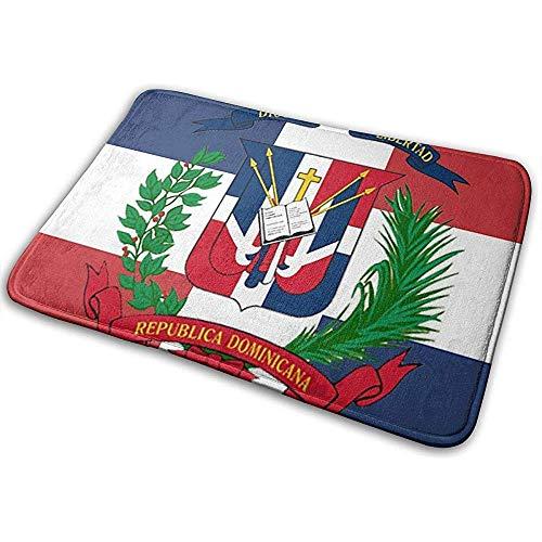Sesily - Felpudo de la República Dominicana, diseño de bandera de la puerta, alfombra de bienvenida, felpudo, felpudo, para interior y exterior
