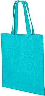 Q-Tees QTB Economical Tote Bag-Turquoise-ONE