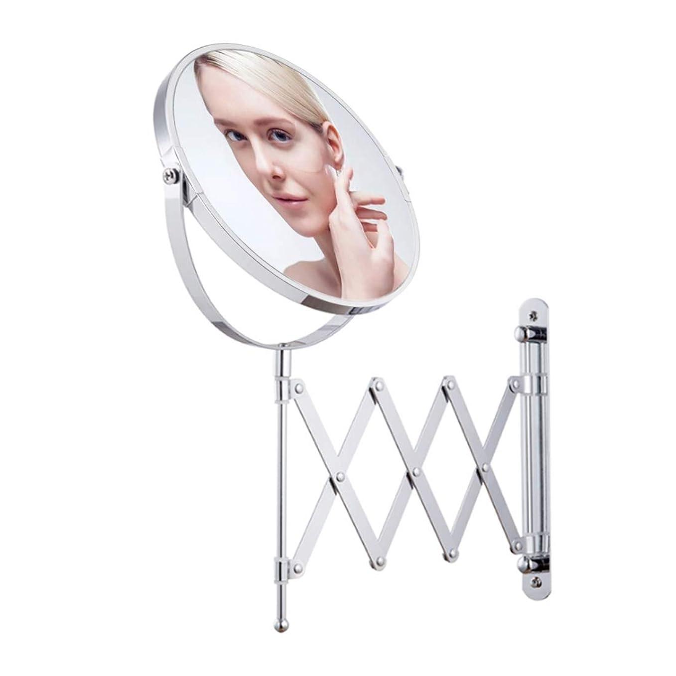 推定注入する異なる化粧鏡壁掛け1×/ 2×360回転調節可能な両面自由拡大鏡化粧品アーム拡張バスルームミラー