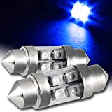 EPARTS 2 X 31mm 4-SMD Blue LED Car Interior Festoon Dome Map Glove Box Trunk Replacement Light Bulb