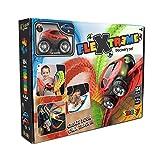 Smoby – FleXtreme Autorennbahn Starter Set – 184 Schienen + Rennauto, Rennbahn für Autos, für Kinder ab 4 Jahren, flexible Strecke mit Fahren-über-Kopf-Funktion