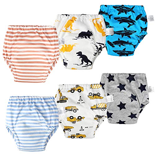 Orinery Waterproof Training Pants Unisex Toddler Kids Underwear 6-Pack