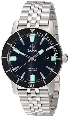 Zodiac hombre zo9250patrimonio automático reloj de acero inoxidable