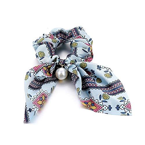 Suave Coreano arco-nudo elástico banda de pelo accesorios moda banda de pelo largo cinta arco cola de caballo corbata corbata scrunchies mujeres niñas Para la ducha cosmética facial Yoga Deportes
