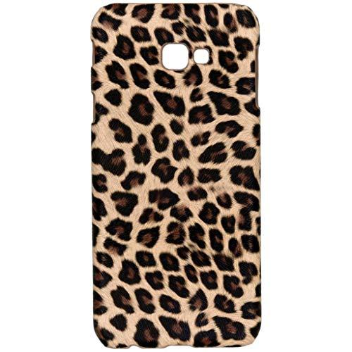 hHülle kompatibel mit Samsung Galaxy J4 Plus Hülle – Leopard, Wildkatze, Tiermuster – Hard Hülle Handyhülle