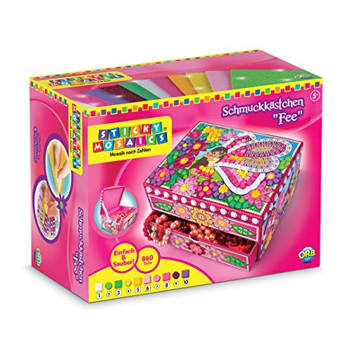 Idee+Spiel 70267 Factory 620122 - Sticky Mosaics Schmuckkästchen Fee