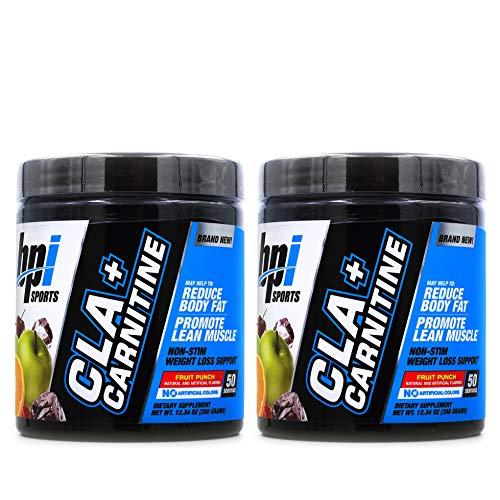 BPI Sports Cla + Carnitine Non-Stimulant Weight Loss Supplement Powder, 300...