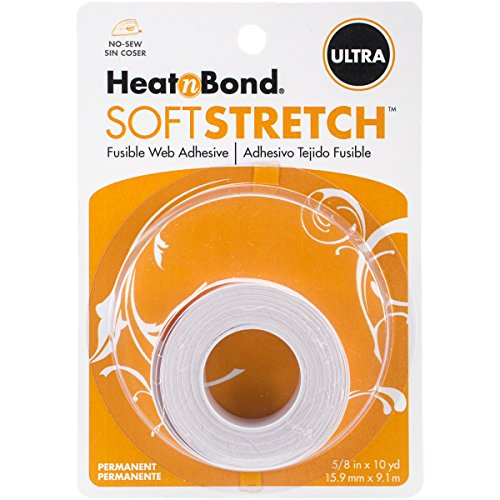 HeatnBond SoftStretch Ultra Iron-On Adhesive, 5/8 Inch x 10 Yards