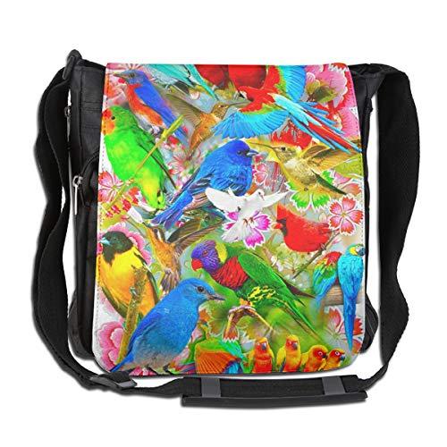 Doinh Kleurrijke Vogel Van Vliegen - Aangepaste Canvas Messenger Tas, Inclined Schoudertas, Geschikt voor zowel mannen als vrouwen