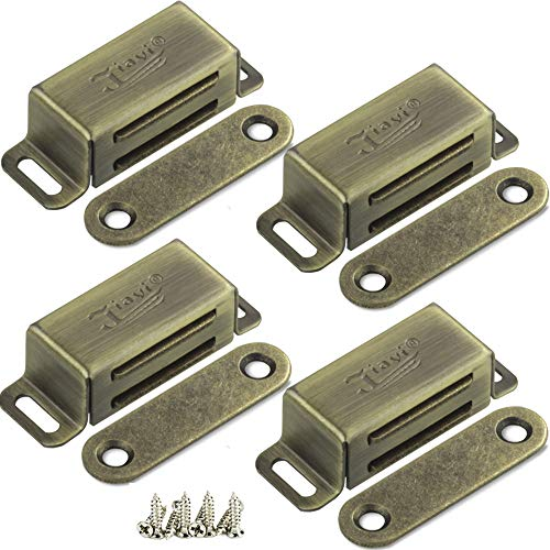 Tür Magnete für Schranktüren Magnetschnäpper Edelstahl Jiayi 4 Stück Türmagnet Stark Möbel Magnet Tür Magnetverschluss Schrank Magnet Türschließer Magnethalter Magnetisch Türverschluss Bronze