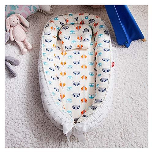 CHENTAOCS Cama de Nido de bebé 85 * 50 cm con Almohada Cuna portátil Cama de Viaje Infantil (Color : Fox)