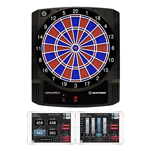 Carromco Dartboard Turbo Charger – Elektronische Dartscheibe inkl. App Funktion für Smartphones oder Tablets – Dartautomat mit 16 Spielen für 1-8 Spieler, inkl. 6 Darts und 20 Ersatzspitzen