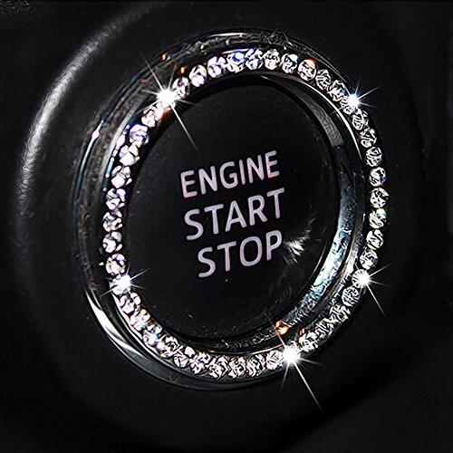 Car Decor Crystal Rhinestone Auto Engine Start Stop Key /& Knobs Decoration Crystal Interior Ring Decal Fit Honda Civic Clarity Accord Odyssey Fit HR-V Pilot Ridgeline Accessories