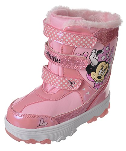 Josmo Kids Girl's Minnie Mouse Snow Boots, Pink, 11 Little Kid M