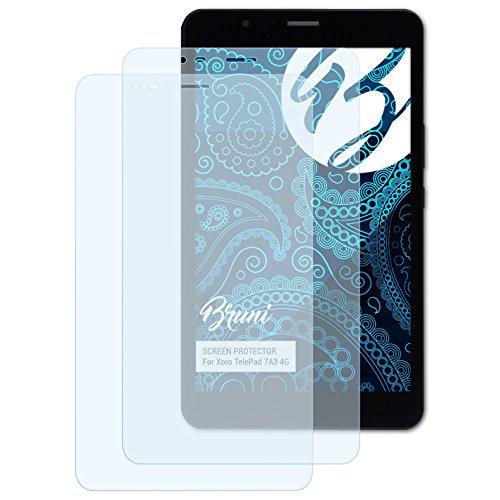 Bruni Schutzfolie kompatibel mit Xoro TelePad 7A3 4G Folie, glasklare Bildschirmschutzfolie (2X)