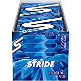 Stride Peppermint Sugar Free Gum, 10 Packs of 14 Pieces (140 Total Pieces)