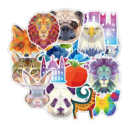 Mikelabo Car Stickers Cartoon Animal Sticker Laptop Stickers Motorcycle Bicycle Skateboard Refrigerator Guitar Water Bottles Vinyls Stickers,105Pcs