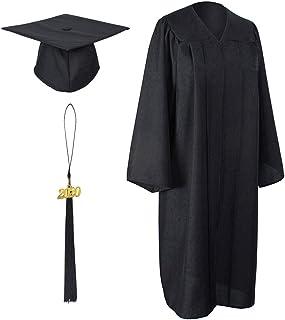 GraduationForYou Matte Graduation Gown Cap Tassel with 2020 Year Charm