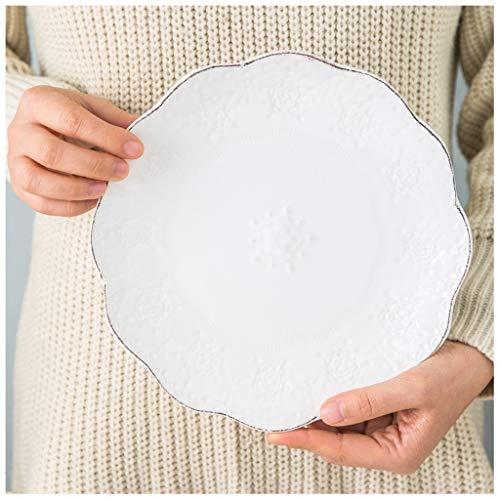 YYF Pétales blanc gaufré 8 pouces (21,9 cm)