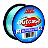 Zebco Outcast Monofilament Fishing Line, Low Memory and Stretch with